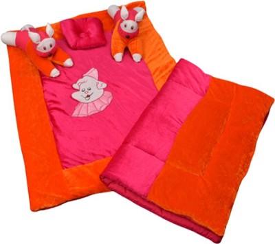 Maple Krafts Velvet, Polycotton Bedding Set(Pink, Peach) at flipkart