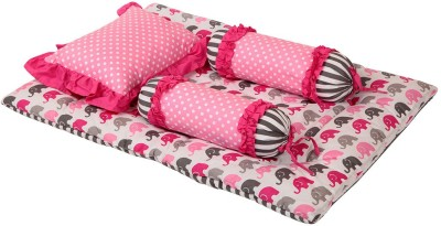 Bacati Velcro Cotton Bedding Set(Pink, Grey) at flipkart