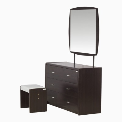 Godrej Interio SUPER MAGNA DRSNG TBL STOOL Engineered Wood Dressing Table(Finish Color - Indian Mahagony)