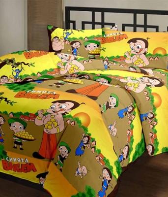 HSR Collection Cotton Printed Double Bedsheet(1 Double Bedsheet, 2 Pillow Cover, Multicolor) at flipkart