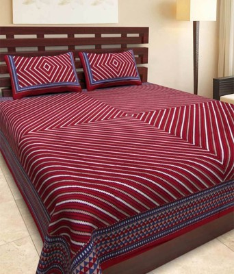 Enviro 3000 TC Cotton Double Printed Bedsheet(Pack of 1, Multicolor) at flipkart
