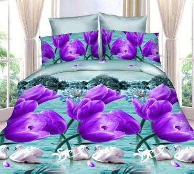 Dexim Polyester, Satin Double 3D Printed Bedsheet(1Double Bed Sheet 2Pillow Covers, Multicolor)  available at flipkart for Rs.889