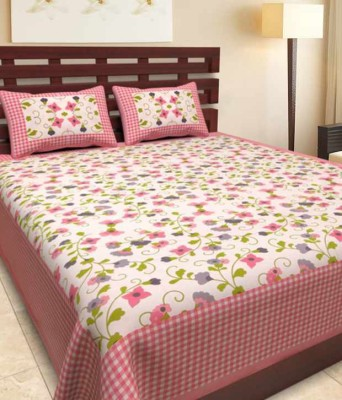 Aapno hindusthan Cotton Double 3D Printed Bedsheet(Multicolor) at flipkart