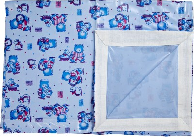 Love Baby Single Bedsheet(Pack of 1, Blue)