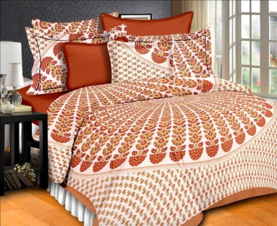 Bombay Cotton Cotton Double Printed Bedsheet(Pack of 1, Multicolor) at flipkart