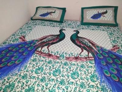 neelgiri 350 TC Cotton Double King Printed Bedsheet(Pack of 1, Multicolor) at flipkart