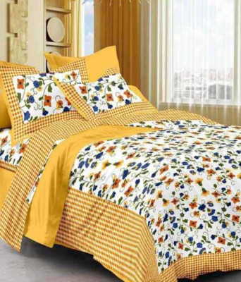 Aapno hindusthan Cotton 3D Printed Double Bedsheet(2 pillow cover, Multicolor) at flipkart