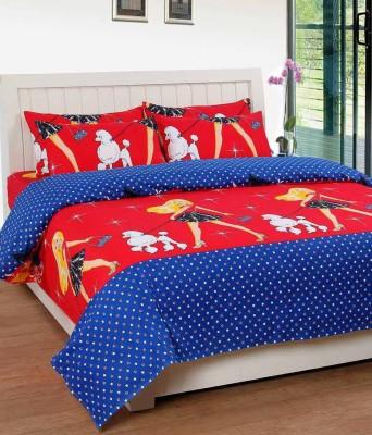 ATOZ Home Decor Cotton Double Cartoon Bedsheet(Pack of 1, Multicolor) at flipkart