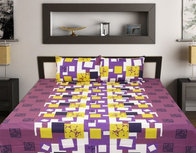 Sleepwell 140 TC Cotton Double King Floral Bedsheet(Pack of 1, White) at flipkart