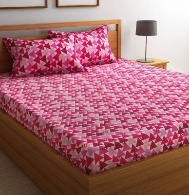 Flipkart SmartBuy Cotton Geometric Double Bedsheet