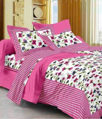 Rajasthani Print 300 TC Cotton Double Printed Bedsheet(Pack of 1, Multicolor) at flipkart