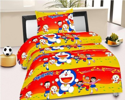 Red N Hot Cotton Cartoon Single Bedsheet(1 Bedsheet, 1 Pillow Cover, Red) at flipkart