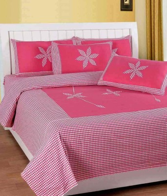 MEHAR HOME 300 TC Cotton Double Floral Bedsheet(Pack of 1, Multicolor) at flipkart
