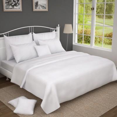 Oscar home 250 TC Cotton Double Plain Bedsheet(Pack of 1, White) at flipkart