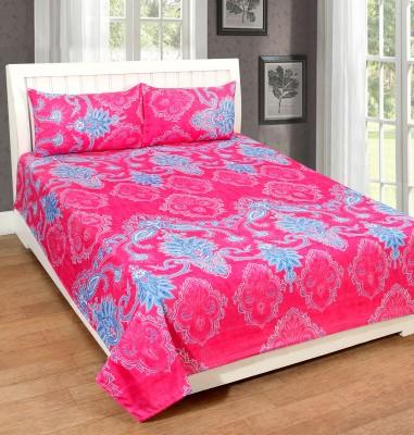 Zesture Polycotton Floral Double Bedsheet(1 Double Bedsheet, 2 Pillow Covers, Multicolor) at flipkart