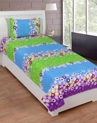 Shreejee 120 TC Polycotton Single Printed Bedsheet(Pack of 1, Multicolor) at flipkart