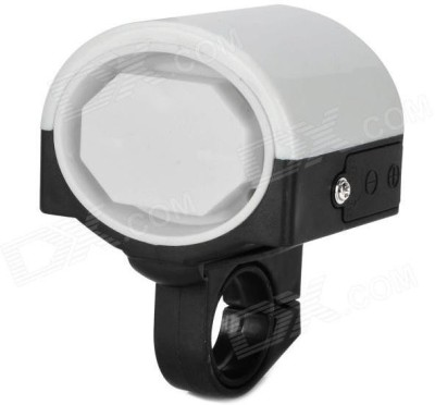 CycLex 360 Degree Rotation Electronic Horn for Bicycle Bell White