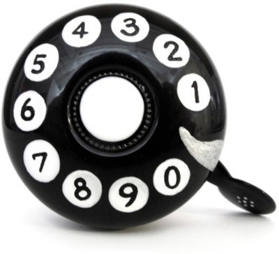 Stop To Shop Rotary Dial Telephone Bike Bell Black, White, Silver