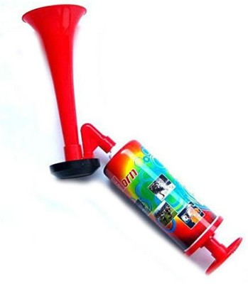 Shrih Large Hand Held Cheer Air Horn Pump Trumpet Bell Multicolor