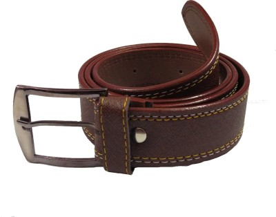 Ansh Fashion Wear Men Casual Brown Artificial Leather Belt  available at flipkart for Rs.187