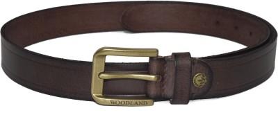 Woodland Men Casual Brown Genuine Leather Belt