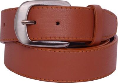 The Brandstand Men Casual Tan Texas Leatherite Belt