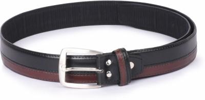 Buckle Up Men Black Artificial Leather Belt Buckle Up Belts