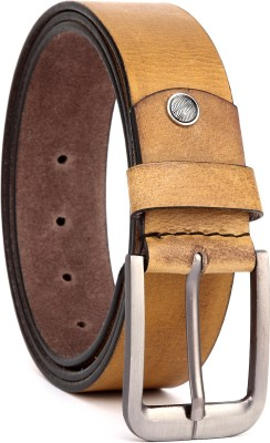 Hidekraft Men Casual Tan Genuine Leather Belt