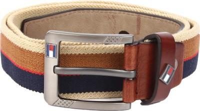 Lotus Designer Men Casual Brown Canvas Belt