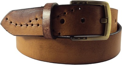 National Leathers Men Casual Tan Genuine Leather Belt