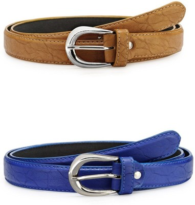 SRI Women Party, Casual Blue Artificial Leather Belt