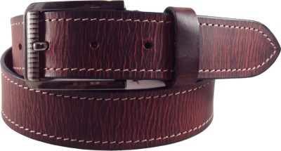 National Leathers Men Casual Red Genuine Leather Belt