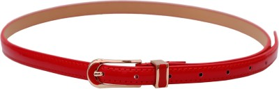 Stylehoops Women Evening, Party, Casual Red Artificial Leather Belt