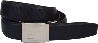 LEE O Men Black Genuine Leather Reversible Belt