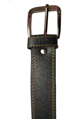 Ansh Fashion Wear Men Casual Black Artificial Leather Belt  available at flipkart for Rs.195