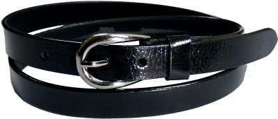 Manshkhino Women Formal Black Genuine Leather Belt  available at flipkart for Rs.599