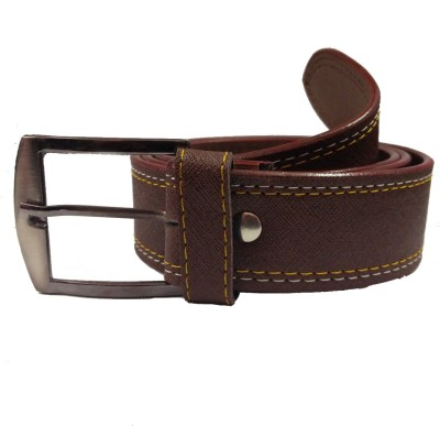 Ansh Fashion Wear Men Casual Brown Artificial Leather Belt  available at flipkart for Rs.190