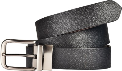 Saugat Traders Boys Formal, Casual Black, Brown Genuine Leather Reversible Belt