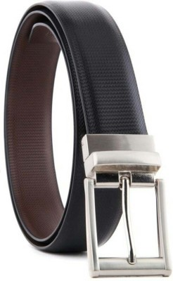 Boys Casual, Party, Formal, Evening Black, Brown Synthetic, Artificial Leather, Genuine Leather Reversible Belt