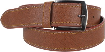 Ansh Fashion Wear Men Casual Brown Artificial Leather Belt  available at flipkart for Rs.198