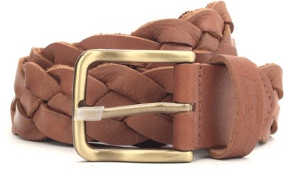 Levi's Men Tan Genuine Leather Belt