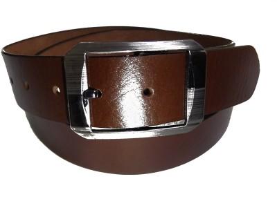 Manshkhino Men Formal Brown Genuine Leather Belt  available at flipkart for Rs.850