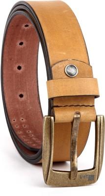 eXcorio Men Casual Tan Genuine Leather Belt