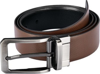 VR ENTERPRISES Boys Casual, Party, Formal Black, Brown Genuine Leather Reversible Belt