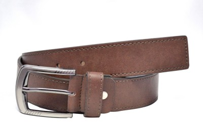 Aer Leather Men Casual Brown Synthetic Belt Aer Leather Belts