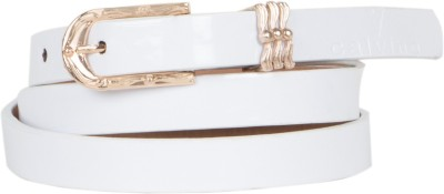 Calvino Women Casual, Formal White Artificial Leather Belt