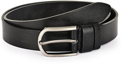 Buckle Up Men Formal Black Genuine Leather Belt