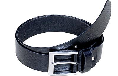 Manshkhino Men Formal Black Genuine Leather Belt  available at flipkart for Rs.800