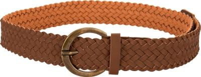 Jainsons Girls Brown Artificial Leather Belt