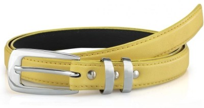 Oleva Women Casual, Formal Yellow Genuine Leather Belt  available at flipkart for Rs.125